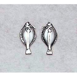 Halibut Earrings Sterling Silver