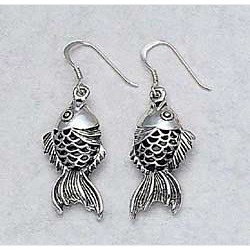 Koi Earrings Sterling Silver