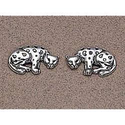 Leopard Earrings Sterling Silver
