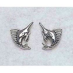 Marlin Earrings Sterling Silver