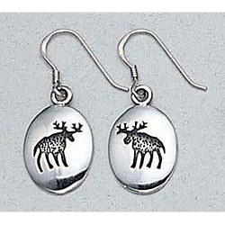 Moose Earrings Sterling Silver