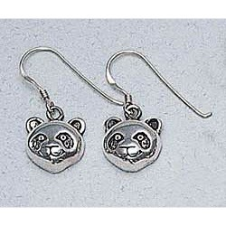 Panda Bear Earrings Sterling Silver