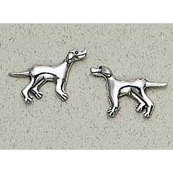 Pointer Earrings Sterling Silver