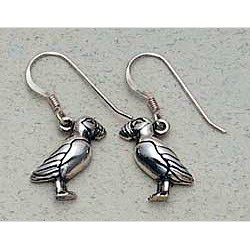 Puffin Earrings Sterling Silver