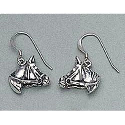 Quarter Horse Earrings Sterling Silver