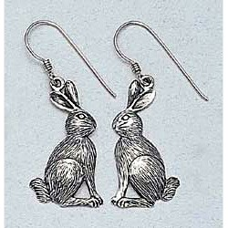 Rabbit Earrings Sterling Silver