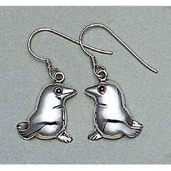 Seal Pup Earrings Sterling Silver
