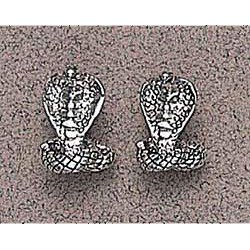 Snake Earrings Sterling Silver