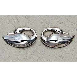 Swan Earrings Sterling Silver