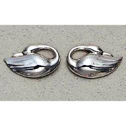 Swan Earrings Sterling Silver