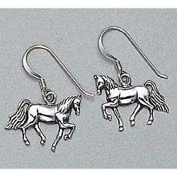 Tennessee Walking Horse Earrings Sterling Silver