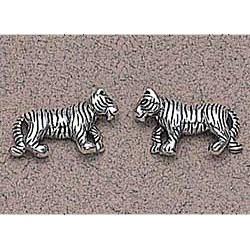 Tiger Earrings Sterling Silver Earrings Sterling SilverEarrings Sterling Silver