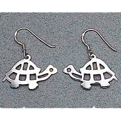 Turtle Earrings Sterling Silver