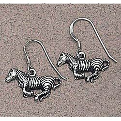 Zebra Earrings Sterling Silver
