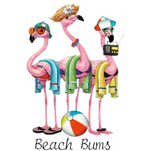 Flamingo T-Shirt - Beach Bums