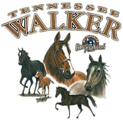 Tennessee Walking Horse T-Shirt - Beautifully Portrayed