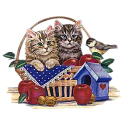 Cat T-Shirt - Kittens in a Basket