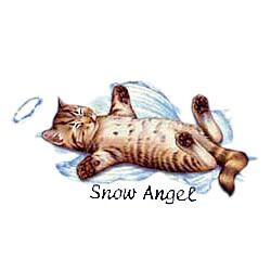 Cat T-Shirt - Snow Angel