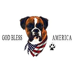 Boxer T-Shirt - American Dog Uncropped