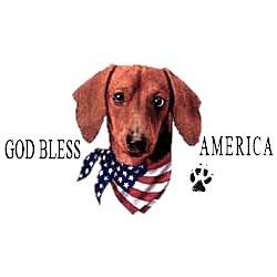 Dachshund T-Shirt - American Dog Red