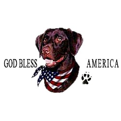 Chocolate Lab T-Shirt - American Dog