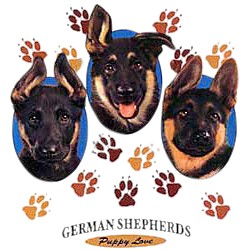 German Shepherd T-Shirt - Puppies and Paws