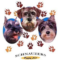 Schnauzer T-Shirt - Puppies and Paws