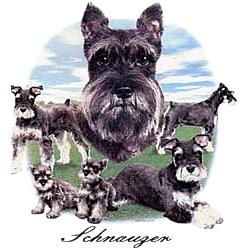Schnauzer T-Shirt - Lawn Dogs