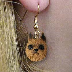 Brussels Griffon Authentic Earrings