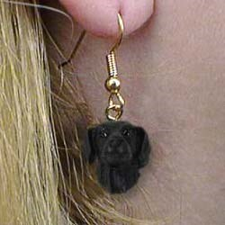 Flat-Coated Retriever Authentic Earrings