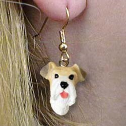 Wire Fox Terrier Authentic Earrings