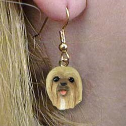 Lhasa Apso Authentic Earrings