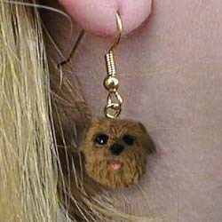 Norfolk Terrier Authentic Earrings