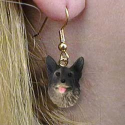 Norwegian Elkhound Authentic Earrings