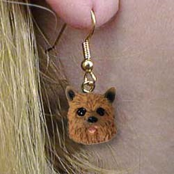 Norwich Terrier Authentic Earrings