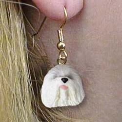Old English Sheepdog Authentic Earrings