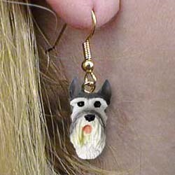 Schnauzer Authentic Earrings