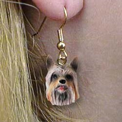 Silky Terrier Authentic Earrings