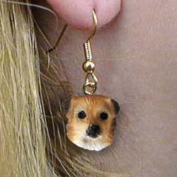 Tibetan Spaniel Authentic Earrings