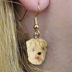 Wheaten Terrier Authentic Earrings