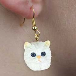 Persian Cat Authentic Earrings
