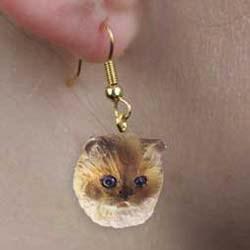 Ragdoll Cat Authentic Earrings