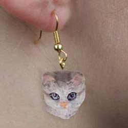 Tabby Cat Authentic Earrings