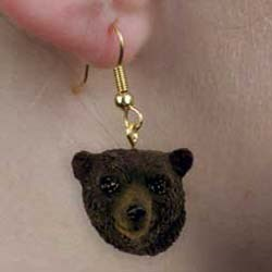 Black Bear Authentic Earrings