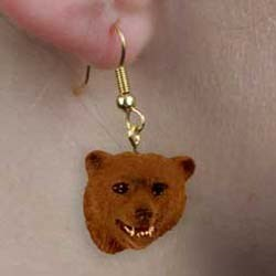 Grizzly Bear Authentic Earrings