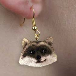 Raccoon Authentic Earrings