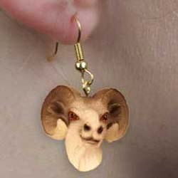 Big Horn Sheep Authentic Earrings