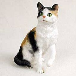 Calico Cat Figurine