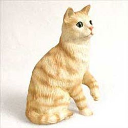 Red Tabby Cat Figurine