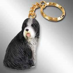 Bearded Collie Keychain